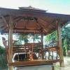 ศาลาโดม 2ชั้น ที่นั่ง 3 ด้านไม้เบญจพรรณ