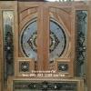 ประตูไม้สักกระจกนิรภัยชุด7ชิ้น เกรดB+, B รหัส BBB14