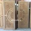 ประตูไม้สักบานคู่ แกะมังกรหงส์ เกรดA รหัส B01