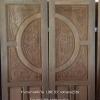 ประตูไม้สักบานคู่แกะฟักทอง เกรดA รหัส B29
