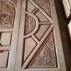 ประตูไม้สักบานคู่ แกะมังกรหงส์ เกรดA รหัส B04