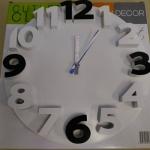 นาฬิกาแขวน 3D Wall clock ขนาด 35cm สีขาว-ดำ ราคารวมส่งEMS
