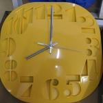 นาฬิกาแขวน 3D Wall clock ขนาด 30cm สีเหลือง ราคารวมส่งEMS