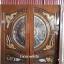 ประตูไม้สักกระจกนิรภัย แกะมังกร หงส์ ปลาเงินปลาทอง รหัส A54 thumbnail 1
