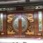 ประตูไม้สักกระจกนิรภัยบานเลื่อน แกะมังกร,หงส์,ไก่,หมู ชุด7ชิ้น รหัสAAA01 thumbnail 2