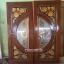 ประตูไม้สักกระจกนิรภัย ฟักทอง เกรดA, B+ รหัส A123 thumbnail 1
