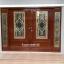ประตูไม้สักกระจกนิรภัยครึ่งบานเลื่อน ชุด4ชิ้น รหัสAAA28 thumbnail 1