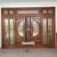 ประตูไม้สักกระจกนิรภัยบานเลื่อน ชุด7ชิ้น รหัสAAA05 thumbnail 2
