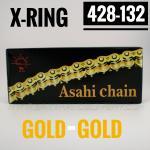 โซ่พระอาทิตย์ X-RING 428-132SL มีกิ๊ปล็อค (ทอง-ทอง)
