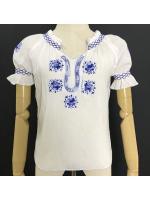 เสื้อวินเทจ Greece Embroidered Blouse
