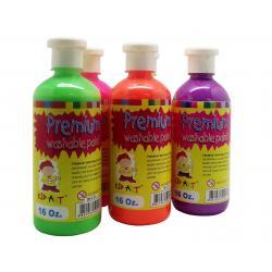 สีพรีเมียมวอชเชเบิ้ลสะท้อนแสง 450 ml. (Premium Washable Paints Neon)