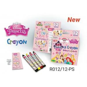 สีเทียนลายพริ้นเซสมาตรฐาน12สีเกรด A [ Disney Princess Regular Crayons ]