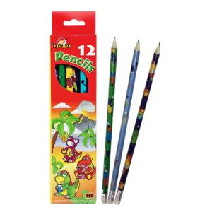 ดินสอไม้HBติดยางลบ 12แท่ง (HB Pencil with Eraser 12 Ct.)
