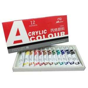 ชุดสีอคิลิค 12 ML. 12 สี (Acrylic Paints Set 12 ml. 12 colors)