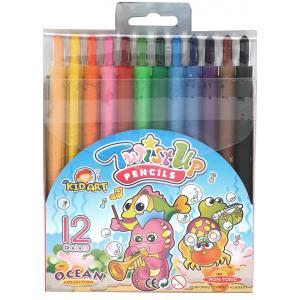สีเทียน Kid Art หมุนหัวได้ 12 แท่ง ( Kid Art Twist - Up Crayons)