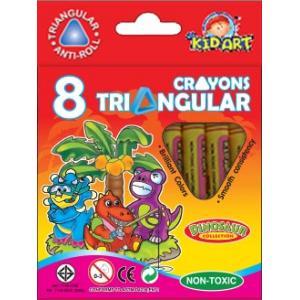 สีเทียน Kid Art ขนาดสามเหลี่ยม ( Kid Art Triangular Crayon)