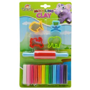 ดินน้ำมัน 150 กรัม 12สี+แม่พิมพ์ (Clay 12 Colors 150 g. with 4 molds + Roller)