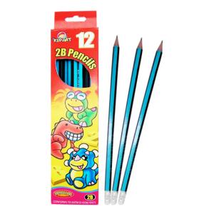 ดินสอไม้2Bติดยางลบ 12แท่ง (2B Pencils with Eraser 12 Ct.)