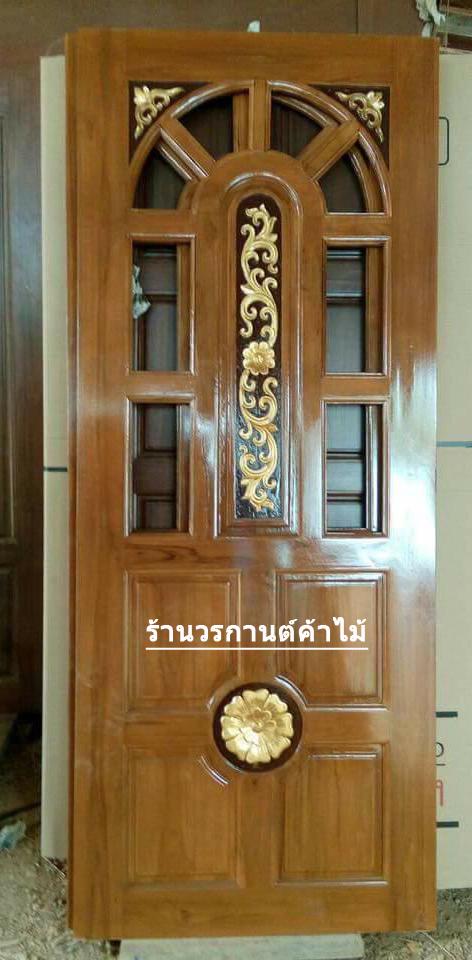 ประตูไม้สักบานเดี่ยว เกรดA, B+ รหัส C86