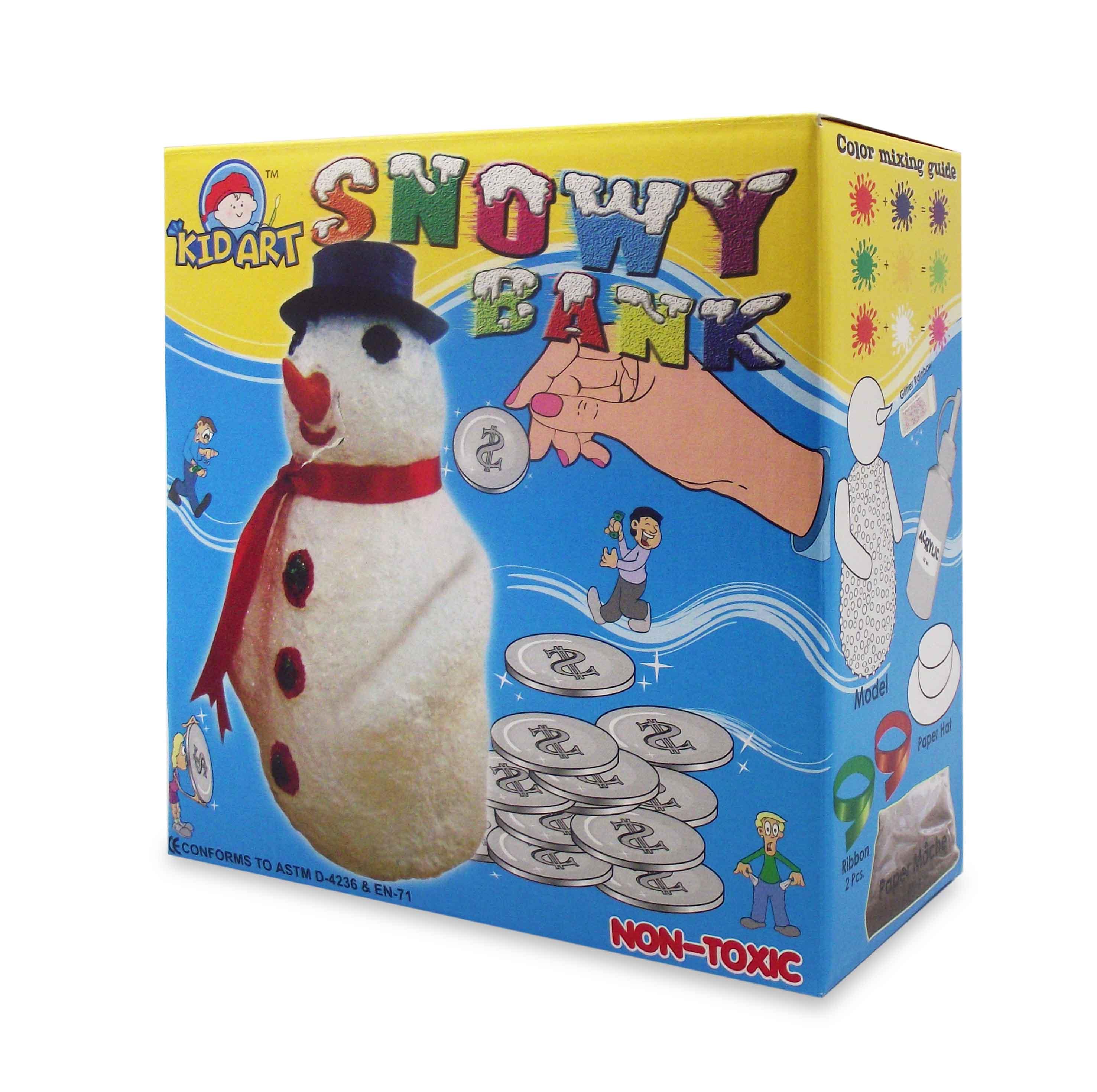 ชุดประดิษฐ์ ออมสินตุ๊กตาหิมะ (D.I.Y Paper Mache Snowy Bank)