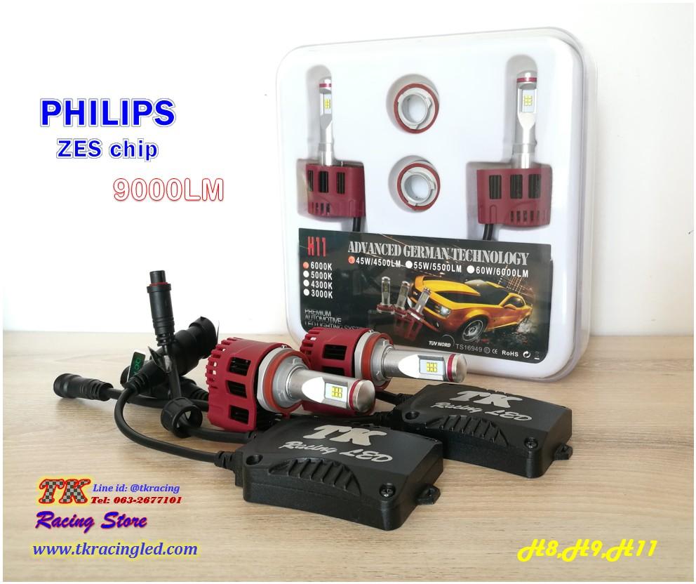 TK1A หลอดไฟหน้า LED ขั้ว H11 - LED Headlight Philips ZES chip