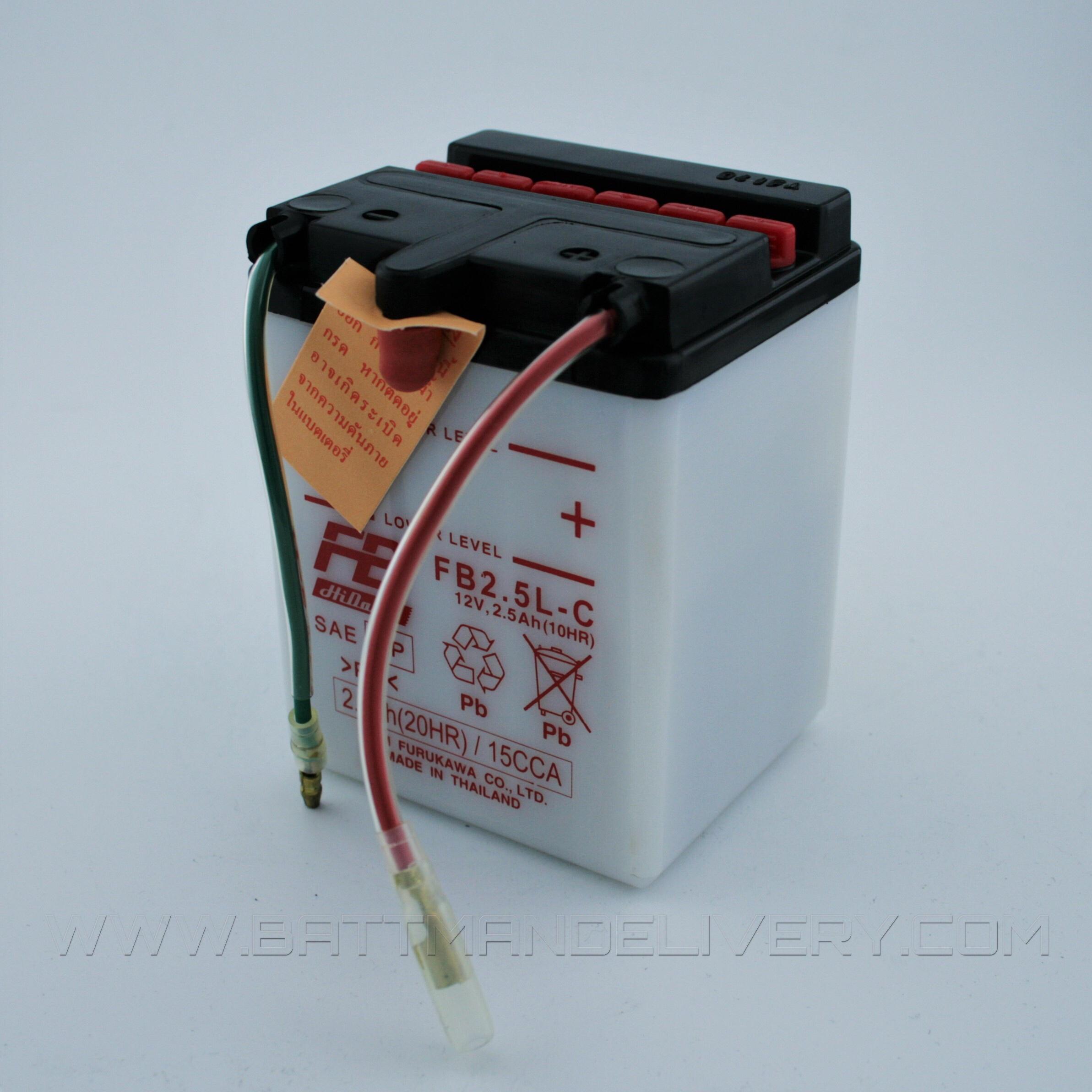 แบตเตอรี่มอเตอร์ไซค์ แบบน้ำ ยี่ห้อ FB รุ่น FB2.5L-C (12V 2.5AH) สำหรับรถรุ่น NOVA-S