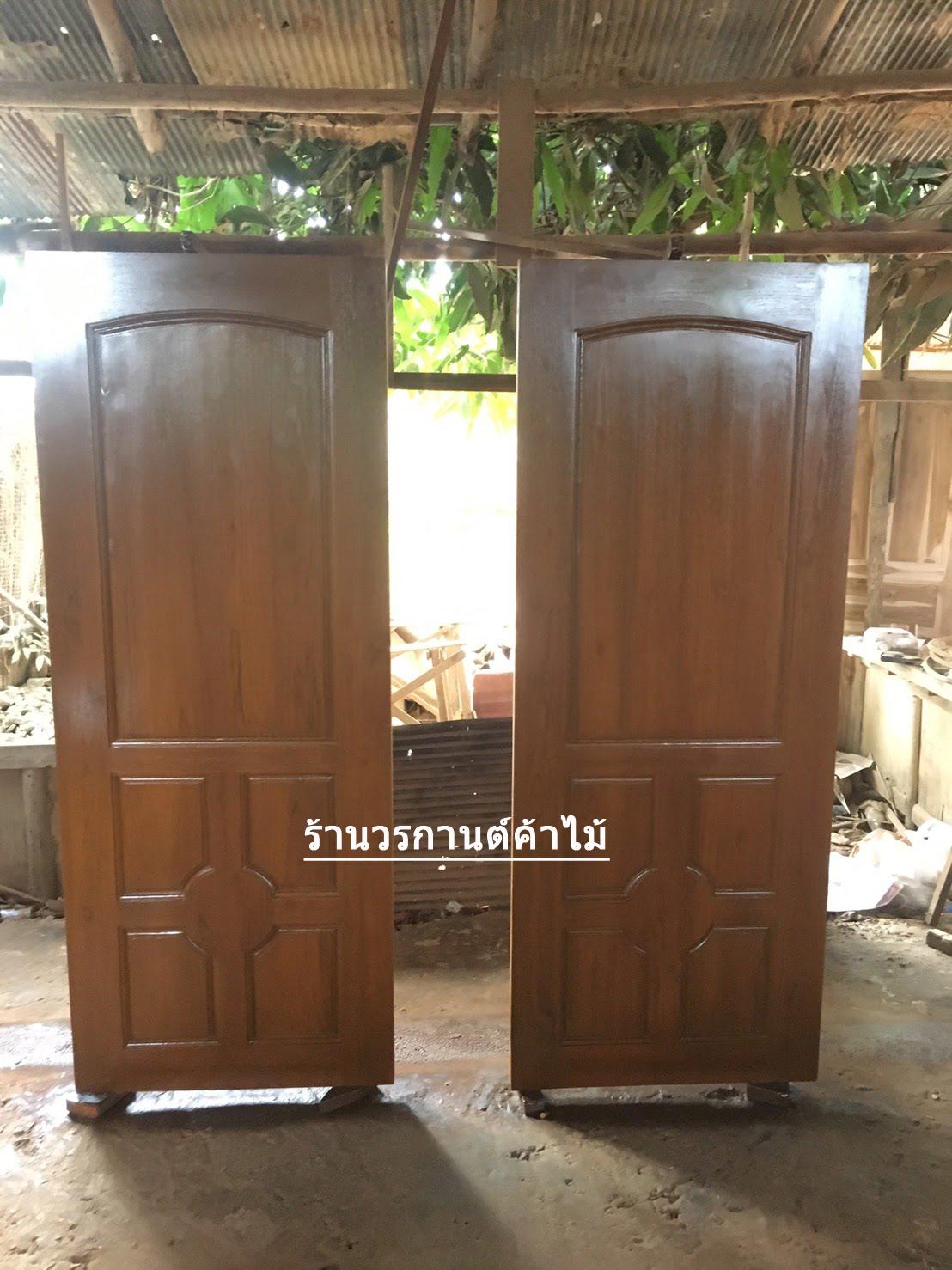 ประตูไม้สักบานเดี่ยว ลูกฟัก เกรดA, B+ รหัส C61