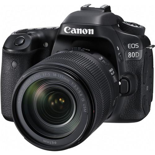 Canon EOS 80D + Lens 18-135mm USM