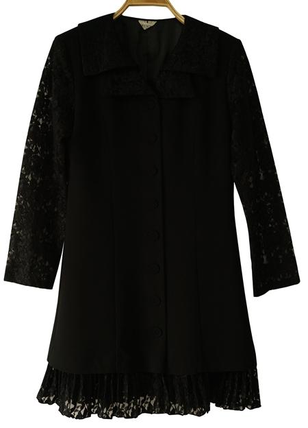 ชุดดำ เสื้อดำ ชุดวินเทจ เดรสวินเทจ