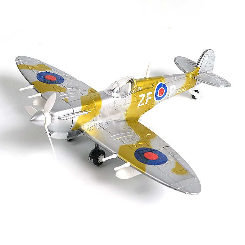 4D Model Aircraft Figther โมเดลเครื่องบินรบ Spitfire แบบ D