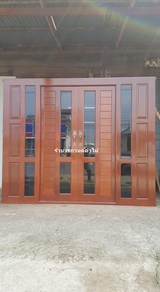 ประตูไม้สักบานเลื่อน เกรดA,B รหัสAAA124