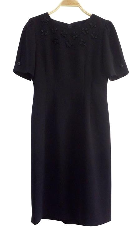 เดรสวินเทจสีดำ เสื้อผ้าวินเทจ เดรสวินเทจญี่ปุ่น