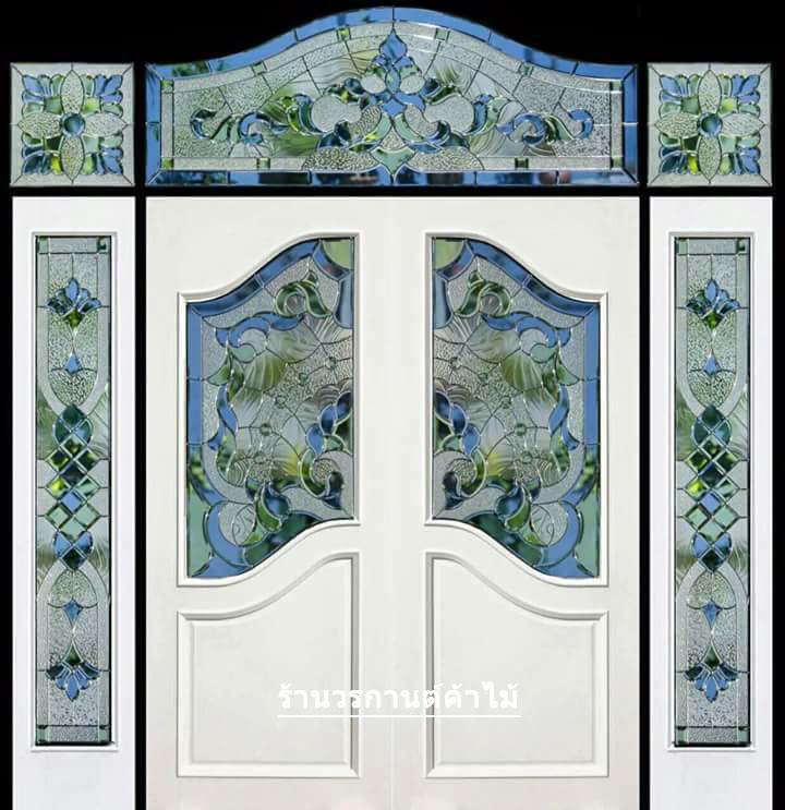 กระจกนิรภัยสเตนกลาสปีกนก ชุด 7ชิ้น รหัส G37