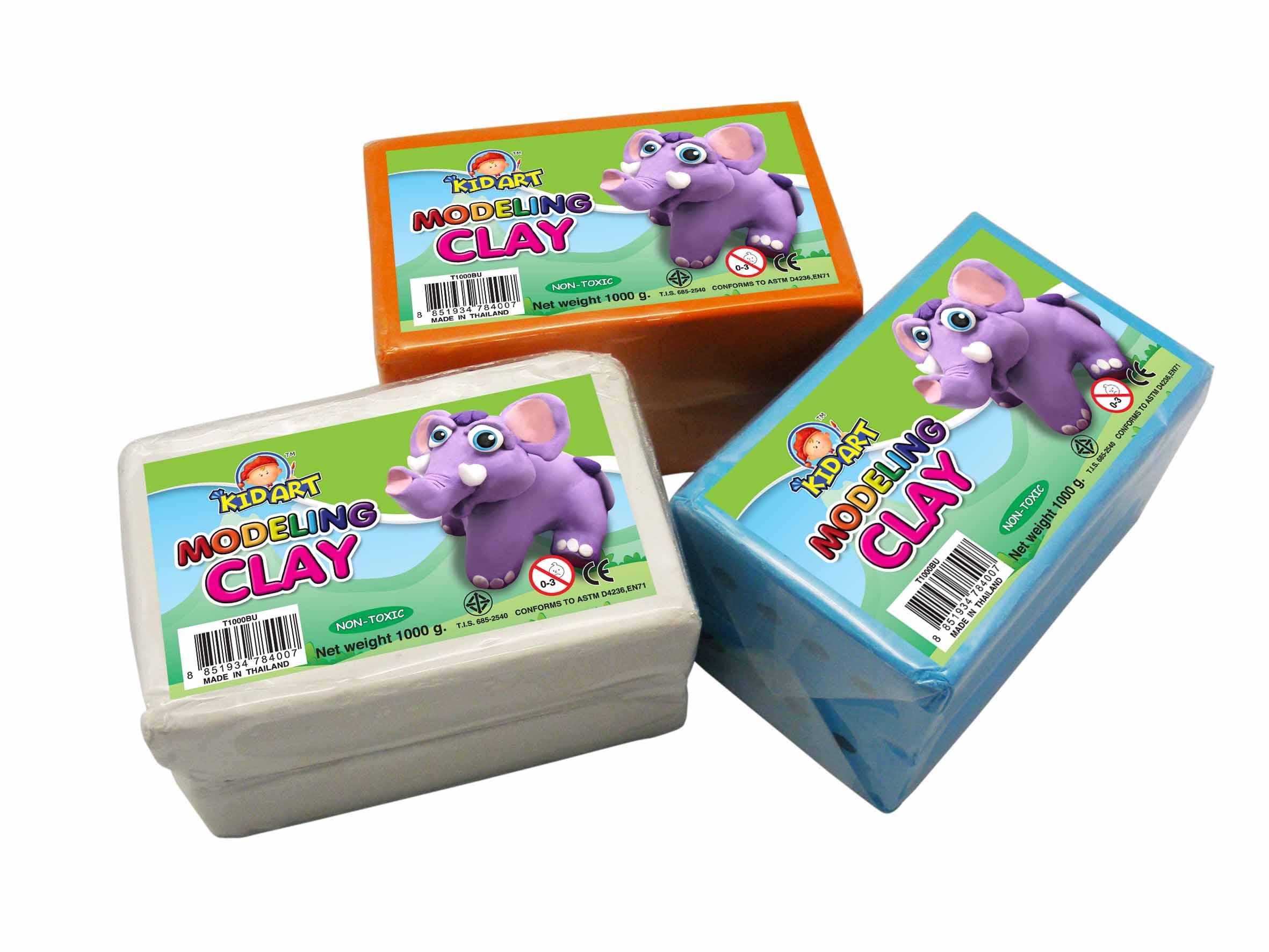 ดินน้ำมัน 1000 กรัม (Clay Single Bar Regular Color 1000 g)