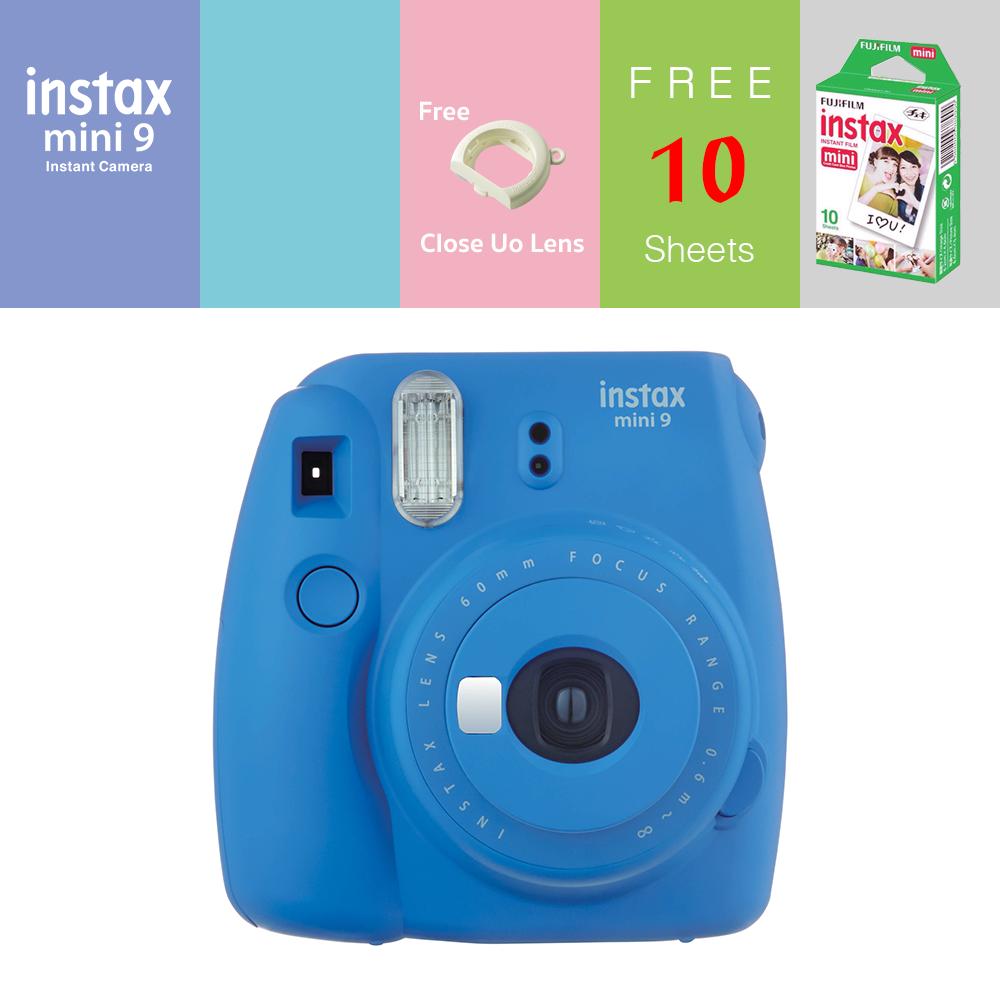 Mini 9 (สีน้ำเงิน) แถมฟิล์ม 10แผ่น แถม Lens Close up