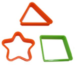 ชุดแม่พิมพ์ ดาว สี่เหลี่ยม สามเหลี่ยม 3ชิ้น/แพ็ค