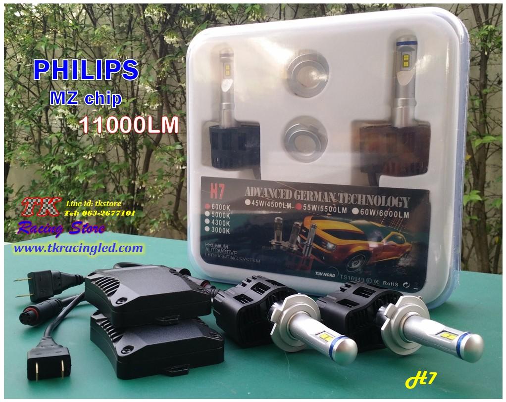TK1 หลอดไฟหน้า LED ขั้ว H7 - LED Headlight Philips chip MZ