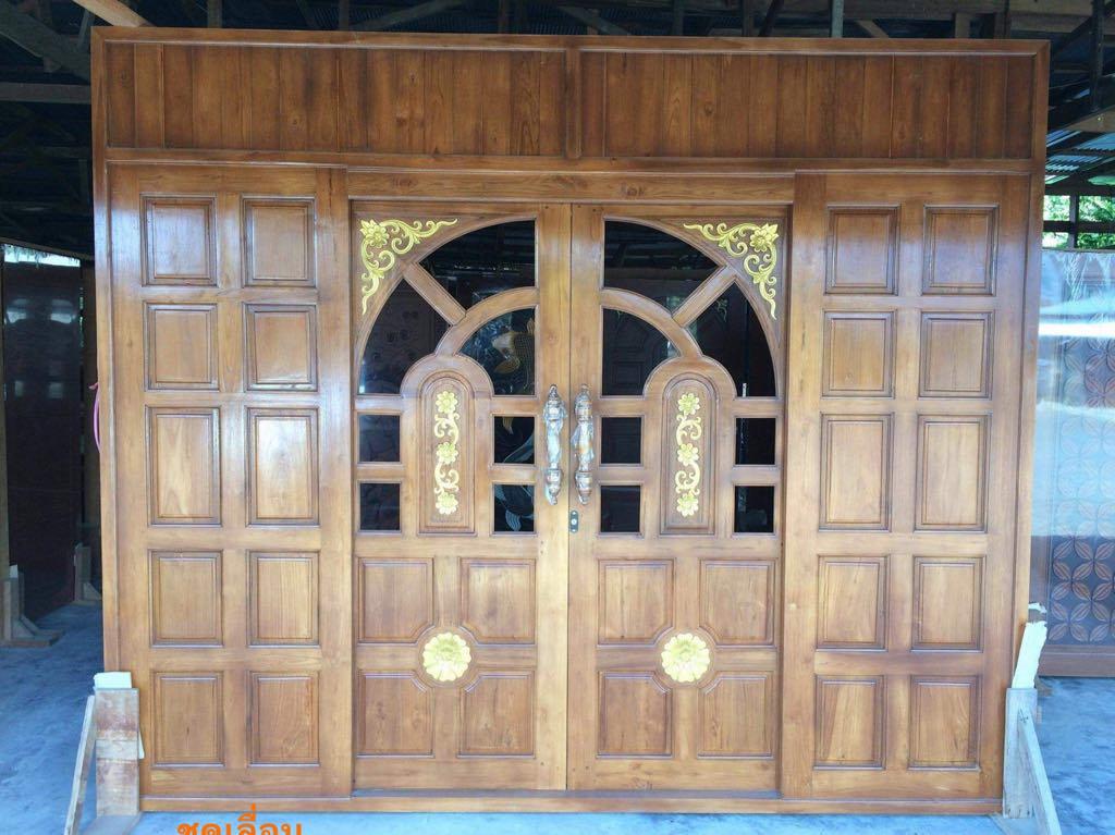 ประตูไม้สักบานเลื่อน รหัส AAA164