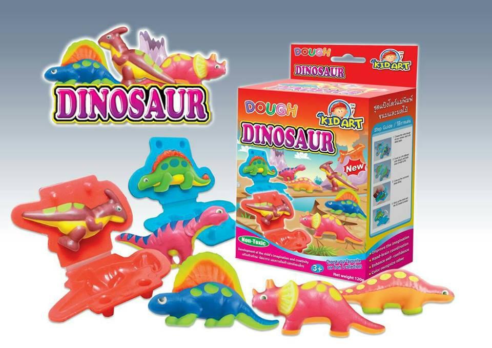 ชุดแป้งโดว์120g +แม่พิมพ์ไดโนเสาร์ (Dough Kit 120 g + Dinosaur Mold)