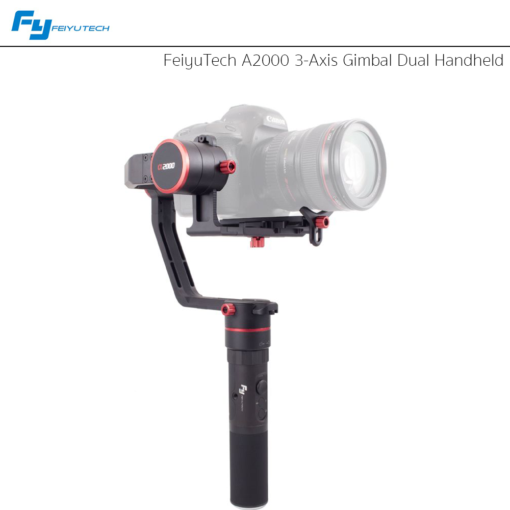 FeiyuTech A2000 3-Axis Gimbal Dual Handheld for DSLR Cameras