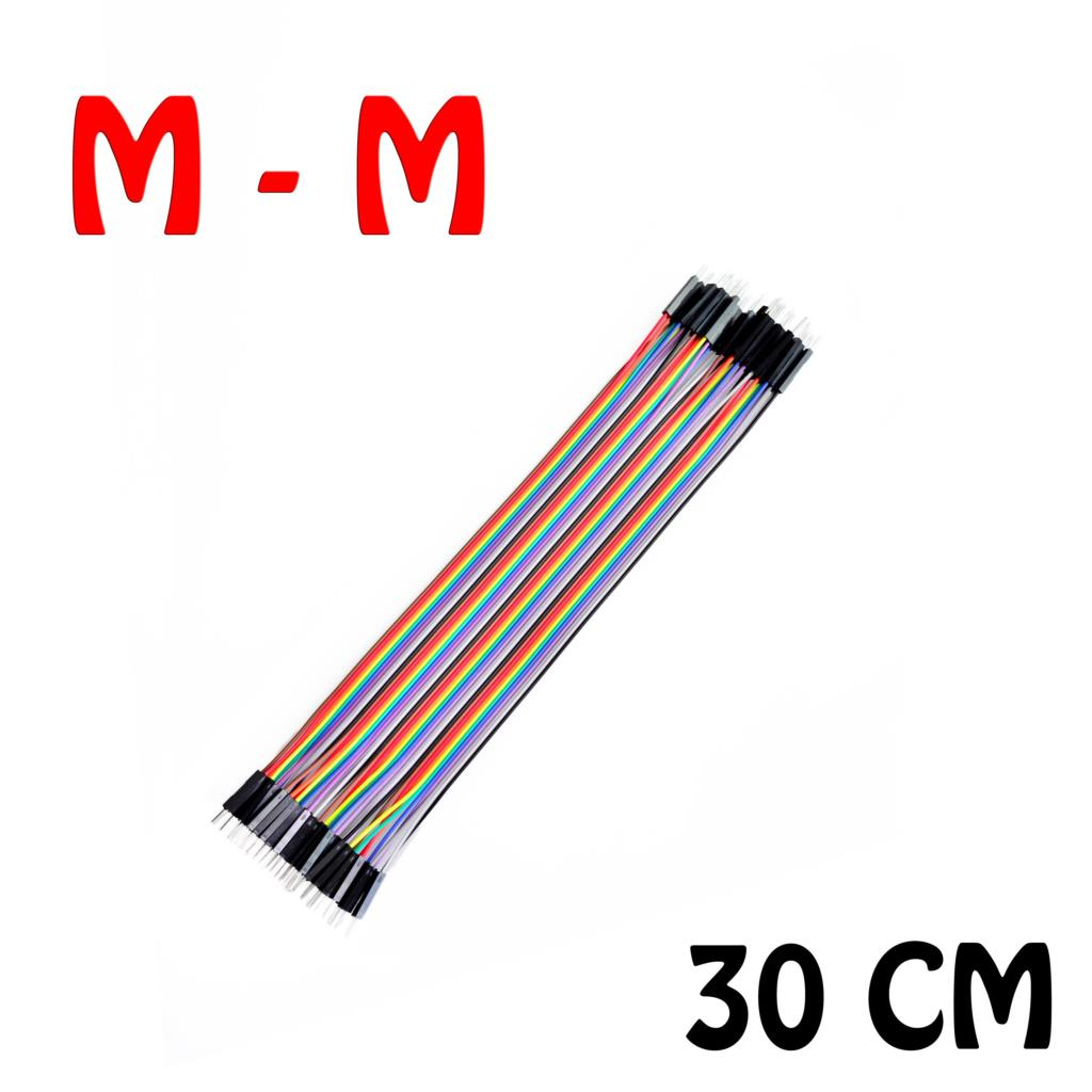 Jumper (M2M) cable wire 30cm Male to Male 40pcs