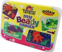 ชุดประดิษฐ์ที่แขวนพวงกุญแจเม็ดโฟม My Beady Hanger Ocean Collection: Squid, Puffer Fish, Whale, Turtle