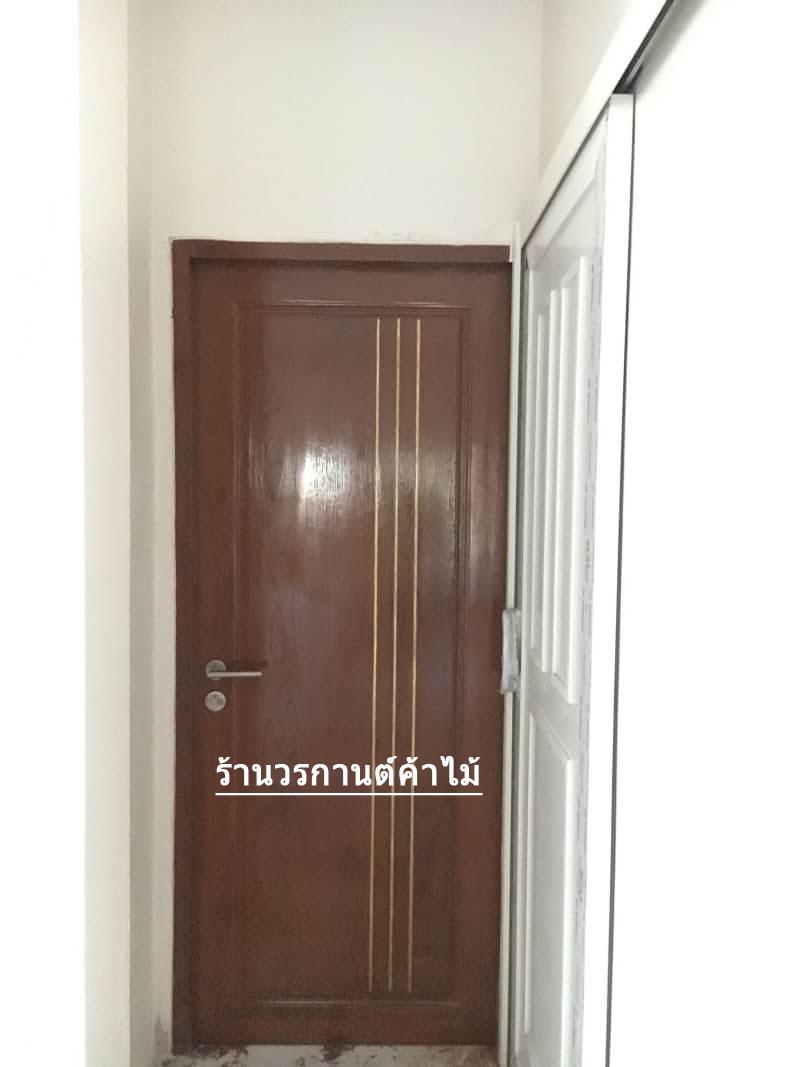 ประตูไม้สักบานเดี่ยว สไตโมเดิร์น เกรดA รหัส C88