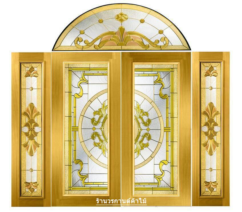 กระจกนิรภัยสเตนกลาส สีทอง ชุด5ชิ้น รหัส G14