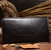 M Long Leather Zipper Black