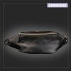 AD4B กระเป๋าคาดอก กระเป๋าคาดเอว หนัง PU สีดำ
