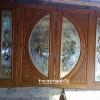 ประตูไม้สักกระจกนิรภัย ชุด4ชิ้น เกรดB+ รหัส BBB10