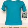 A.เสื้อยืด เสื้อt-shirt คอกลม สีเขียวหัวเป็ด ไซค์ 10 ขนาด 20 นิ้ว (เสื้อเด็ก)