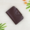 M Ven Card Button Dark Brown
