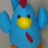 ตุ๊กตาไก่ สีฟ้า สวัสดีปีใหม่ 2560 (30cm)